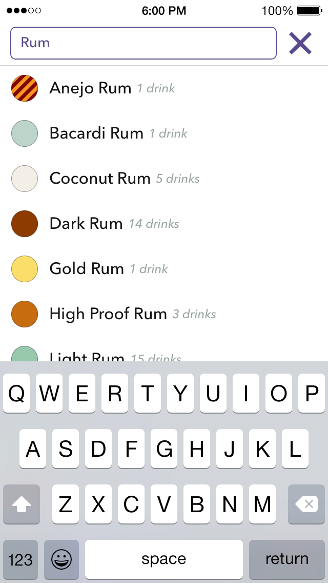 Lush Mixed Drinks App -